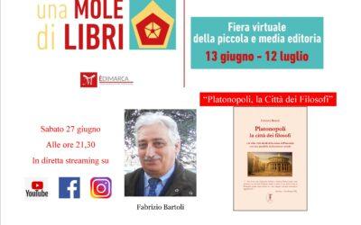 """""""Platanopoli. La città dei filosofi"""" con Fabrizio Bartoli – Sabato 27 giugno"""