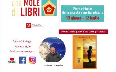 """""""Poesie marchigiane: l'età della giovinezza"""" con Stelio W. Venceslai – 20 giugno 2020"""