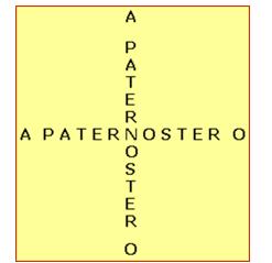Immagine che rappresenta la croce formata dalle parole PATERNOSTER