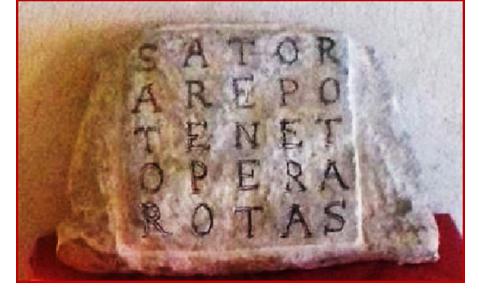 Immagine che rappresenta l'iscrizione SATOR