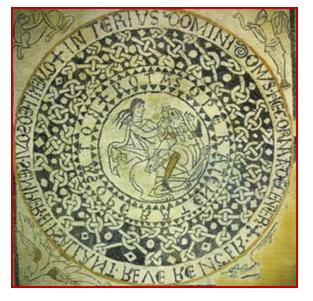 Immagine che rappresenta un'iscrizione circolare