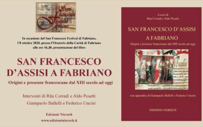 """Presentazione del libro """"San Francesco d'Assisi a Fabriano"""" – Fabriano, 9 ottobre 2020"""